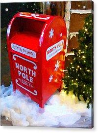 Santa's Mail Box Acrylic Print by Chris Flees