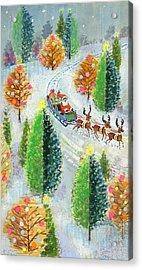 Santa's Sleigh Acrylic Print by David Cooke