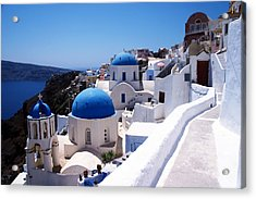 Santorini Churches Acrylic Print