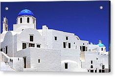 Santorini Greece Architectual Line 6 Acrylic Print by Bob Christopher