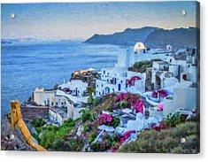 Santorini Greece Dwp416136  Acrylic Print