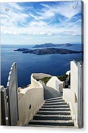 Santorini Acrylic Print by HD Connelly