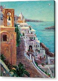 Hotels Of Santorini Acrylic Print