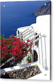 Santorini Villa  Acrylic Print