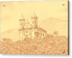 Sao Francisco De Paula Church Acrylic Print by Enaile D Siffert