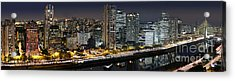 Sao Paulo Iconic Skyline - Cable-stayed Bridge  Acrylic Print