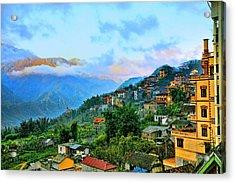 Sapa Village Acrylic Print by Chuck Kuhn