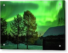 Sapmi Outdoor Museum Under The Northern Lights Karasjok Norway Acrylic Print