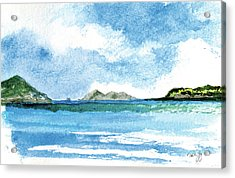 Sapphire Bay Towards Tortolla Acrylic Print