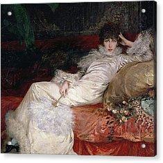 Sarah Bernhardt Acrylic Print by Georges Clairin