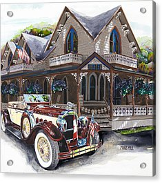 Sarah Elizah The Packard Acrylic Print by Mike Hill