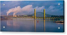 Sarah Long Bridge At Dawn Acrylic Print