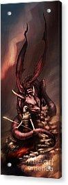 Sarah's Dragon Acrylic Print by Ethan Harris