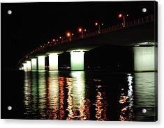 Sarasota Longboat Key Bridge Acrylic Print by Amanda Vouglas