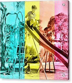 Sarasota Series Trailer Park Playground Acrylic Print by Edward Fielding