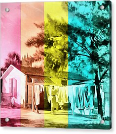 Acrylic Print featuring the painting Sarasota Series Wash Day by Edward Fielding