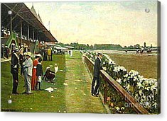 Saratoga Racetrack And Grandstand In 1905 Acrylic Print