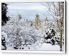 Acrylic Print featuring the photograph Saratoga Winter Scene by Lise Winne