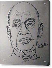 Sardar Vallabhbhai Patel Drawing By Manoj Shukla