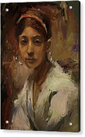 Sargent Study Number 1 Capri Girl Acrylic Print by Brian Kardell