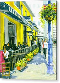 Acrylic Print featuring the painting Sassafraz by Michael Swanson