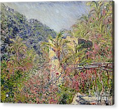 Sasso Valley Acrylic Print by Claude Monet