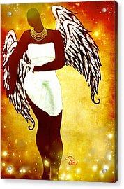 Sassy Angel Acrylic Print by Romaine Head