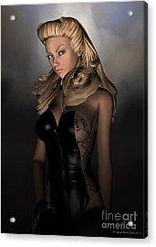 Sassy Acrylic Print by Sandra Bauser Digital Art