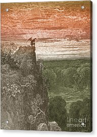 Satan, By Dore Acrylic Print by Photo Researchers