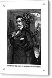 Satan Tempting John Wilkes Booth Acrylic Print by War Is Hell Store