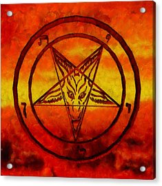 Satanism Acrylic Print by Esoterica Art Agency