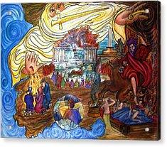 Satans Throne Acrylic Print by Richard  Hubal