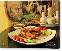 Satay Chicken Acrylic Print
