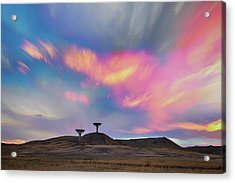 Acrylic Print featuring the photograph Satellite Dishes Quiet Communications To The Skies by James BO Insogna