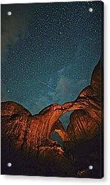 Satellites Crossing In The Night Acrylic Print