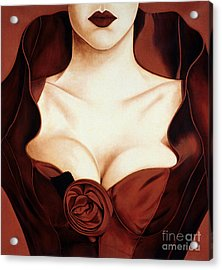 Satin Rose Acrylic Print by Lawrence Supino