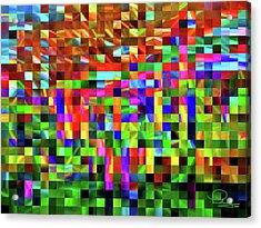 Satin Tiles Acrylic Print by Ludwig Keck