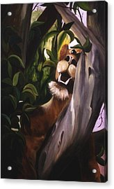 Acrylic Print featuring the painting Satisfied by Renate Nadi Wesley