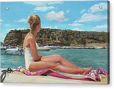 Saturday At The Lake Acrylic Print by Emily Olson