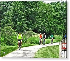 Saturday Bike Ride Acrylic Print
