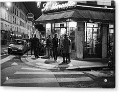 Saturday Evening In Paris Acrylic Print by Hugh Smith