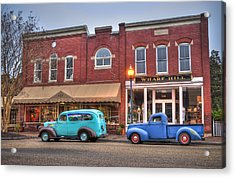 Acrylic Print featuring the photograph Saturday Morning On Main Steet by Williams-Cairns Photography LLC
