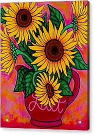 Saturday Morning Sunflowers Acrylic Print