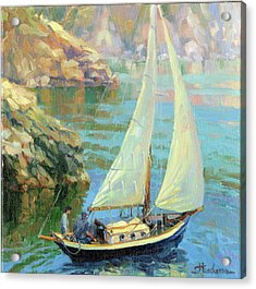 Acrylic Print featuring the painting Saturday by Steve Henderson