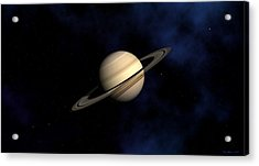 Acrylic Print featuring the digital art Saturn by David Robinson