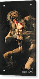 Saturn Devouring One Of His Children  Acrylic Print by Goya