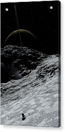 Acrylic Print featuring the digital art Saturn From Prometheus by David Robinson