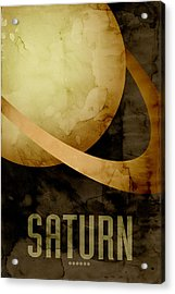 Saturn Acrylic Print by Michael Tompsett