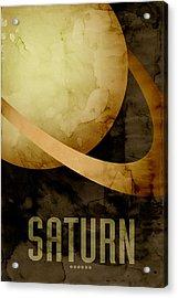 Saturn Acrylic Print by Michael Tompsett