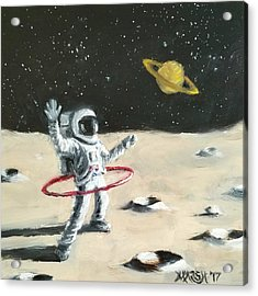 Saturn Ring Acrylic Print